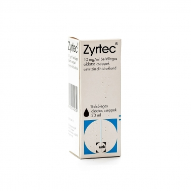 ZYRTEC 10 MG/ML BELS.OLD.CSEPPEK 20 ML